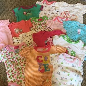 Lot of 14 3-6 month onesies!
